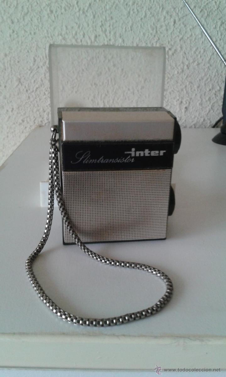 ANTIGUO MINI TRANSISTOR INTER EN SU CAJA ORIGINAL (Radios, Gramófonos, Grabadoras y Otros - Transistores, Pick-ups y Otros)