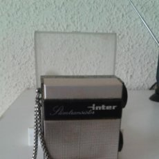 Radios antiguas: ANTIGUO MINI TRANSISTOR INTER EN SU CAJA ORIGINAL. Lote 52170096
