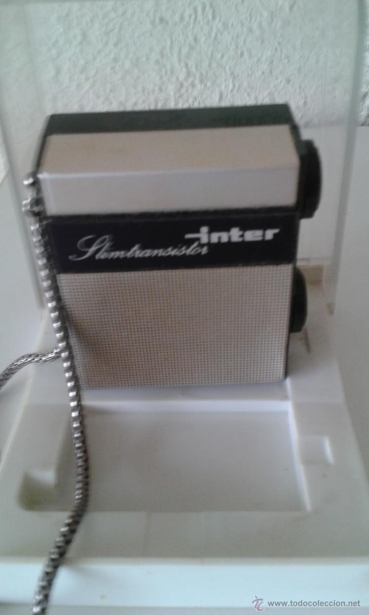 Radios antiguas: ANTIGUO MINI TRANSISTOR INTER EN SU CAJA ORIGINAL - Foto 2 - 52170096