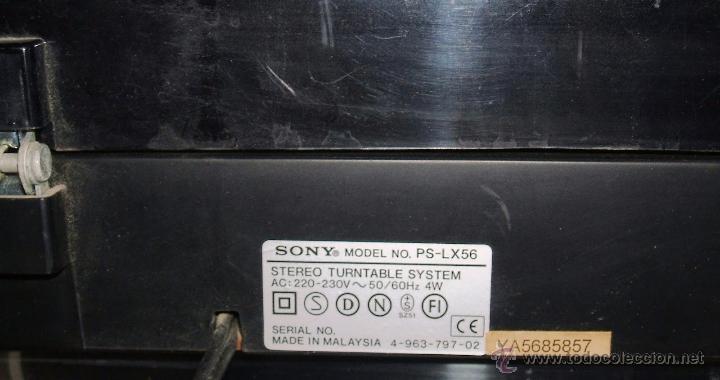 Radios antiguas: TOCADISCOS SONY - PS-LX56 - Foto 26 - 49655395
