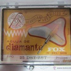 Radios antiguas: ANTIGUA AGUJA DE DIAMANTE FOX TIPO 25 DST-ZST - PHILIPS. Lote 218409101