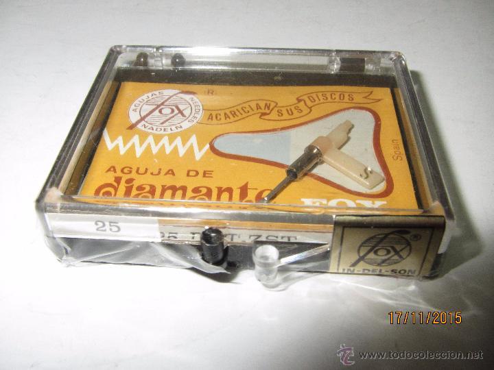 ANTIGUA AGUJA DE DIAMANTE FOX TIPO 25 DST-ZST - PHILIPS (Radios, Gramófonos, Grabadoras y Otros - Transistores, Pick-ups y Otros)