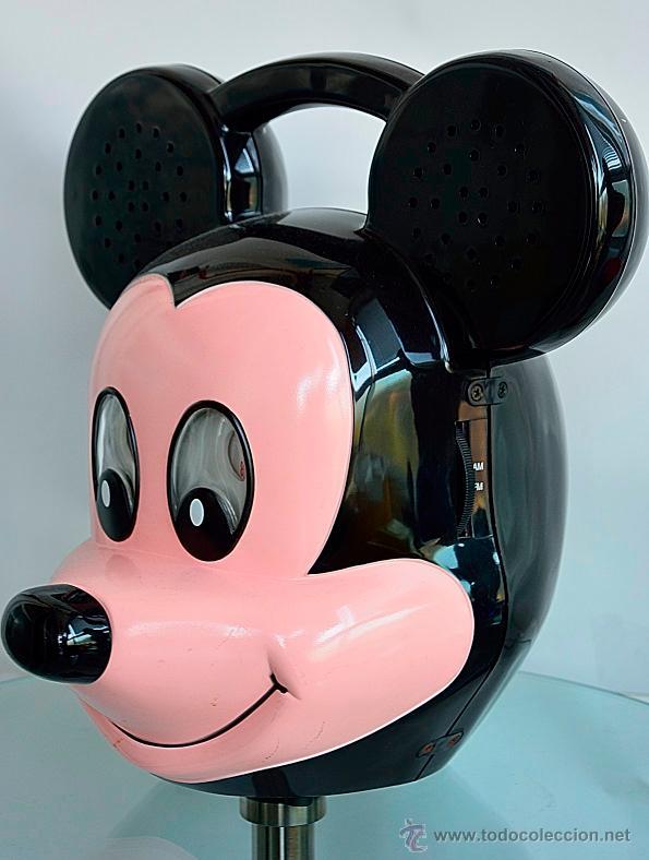 Radios antiguas: ANTIGUA RADIO DE MICKEY MOUSE CON LICENCIA ORIGINAL tamaño xl 40cm de alto - Foto 2 - 198562618