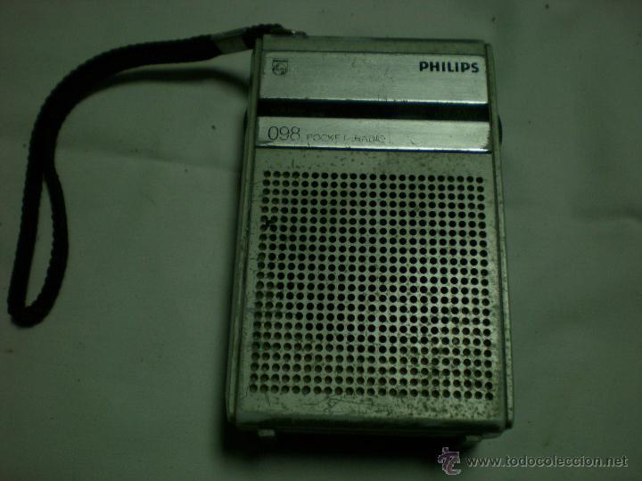 RADIO TRANSISTOR PHILIPS PORTATIL (Radios, Gramófonos, Grabadoras y Otros - Transistores, Pick-ups y Otros)