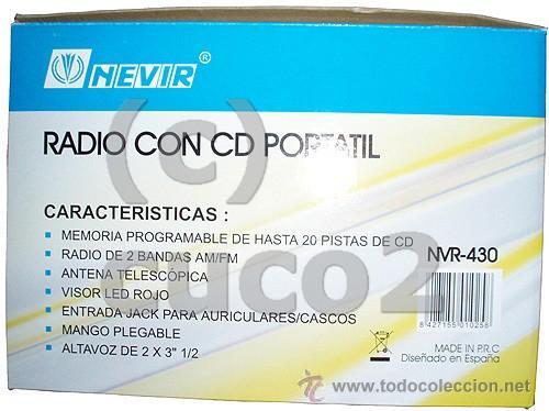 Radios antiguas: RADIO CON CD PORTATIL, REPRODUCTOR CD (PRECINTADO) - Foto 2 - 36074982