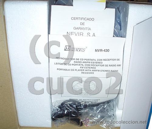 Radios antiguas: RADIO CON CD PORTATIL, REPRODUCTOR CD (PRECINTADO) - Foto 3 - 36074982