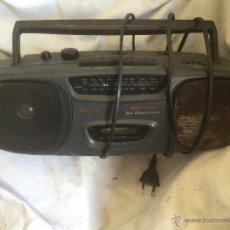 Radios antiguas: RADIO CASSETE SANYO MODELO ALARGADO. Lote 53079060
