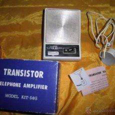 Radios antiguas: TRANSISTOR TELEPHONE AMPLIFIER. MODEL KIT- 505 *. Lote 53258611