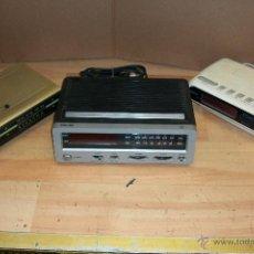 Radios antiguas: LOTE DE 3 RADIOS DESPERTADOR A PILAS Y ELECTRICOS-OSKAR-PHILIPS-MAXIM. Lote 68995222