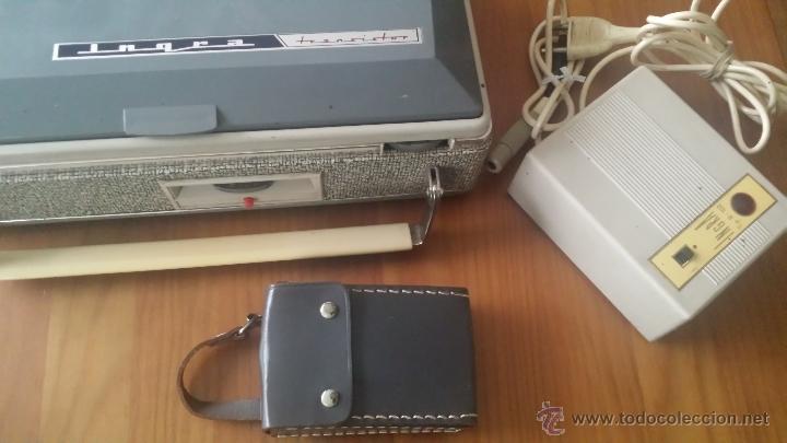 Radios antiguas: MAGNETOFÓN INGRA TR-65. CON TOMA DE CORRIENTE ORIGINAL Y MICROFONO. - Foto 2 - 53471099