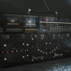 Radios antiguas: RADIO CASSETTE-BOOMBOX VELA DISCO LITE DK 9000. Lote 53697254