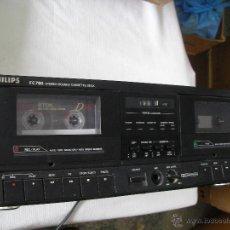 Radios antiguas: ANTIGUO MODULO DOBLE PLETINA PHILIPS FC 780 - EN PERFECTO ESTADO DE FUNCIONAMIENTO. Lote 54761304