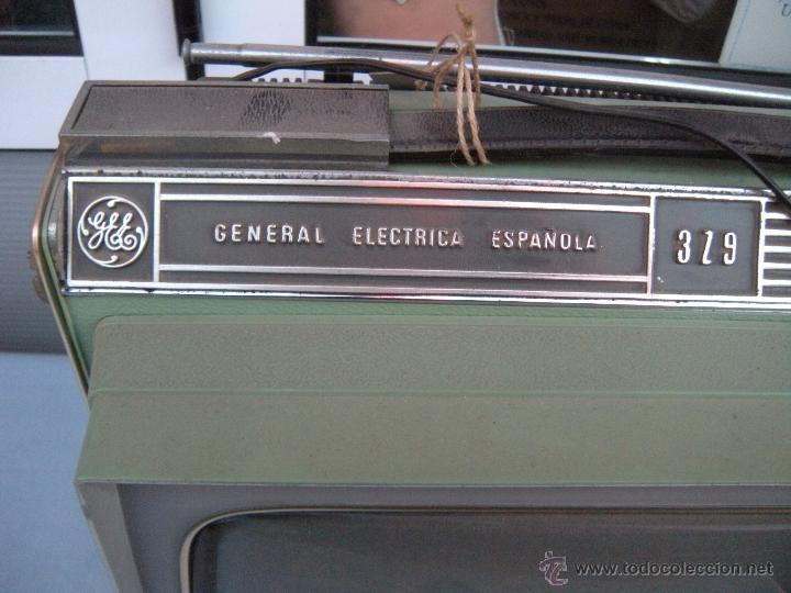 Radios antiguas: TELEVISOR PORTATIL GENERAL ELECTRICA ESPAÑOLA - Foto 7 - 53809960