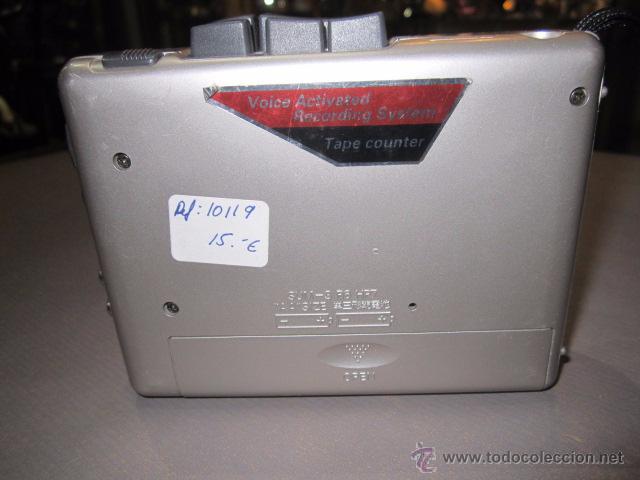 Radios antiguas: Cassette grabador Sanyo M-110, funcionando. - Foto 3 - 54000833