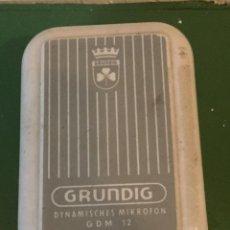 Radios antiguas: MICRÓFONO GRUNDIG GDM 12 AÑO 1957. Lote 54080452