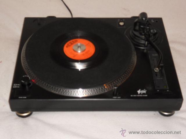 TOCADISCOS PLATO DJ FONESTAR SF-2400B (TIPO TECHNICS) PITCH ADJUST BELT DRIVE TURNTABLE VINILO RETRO segunda mano