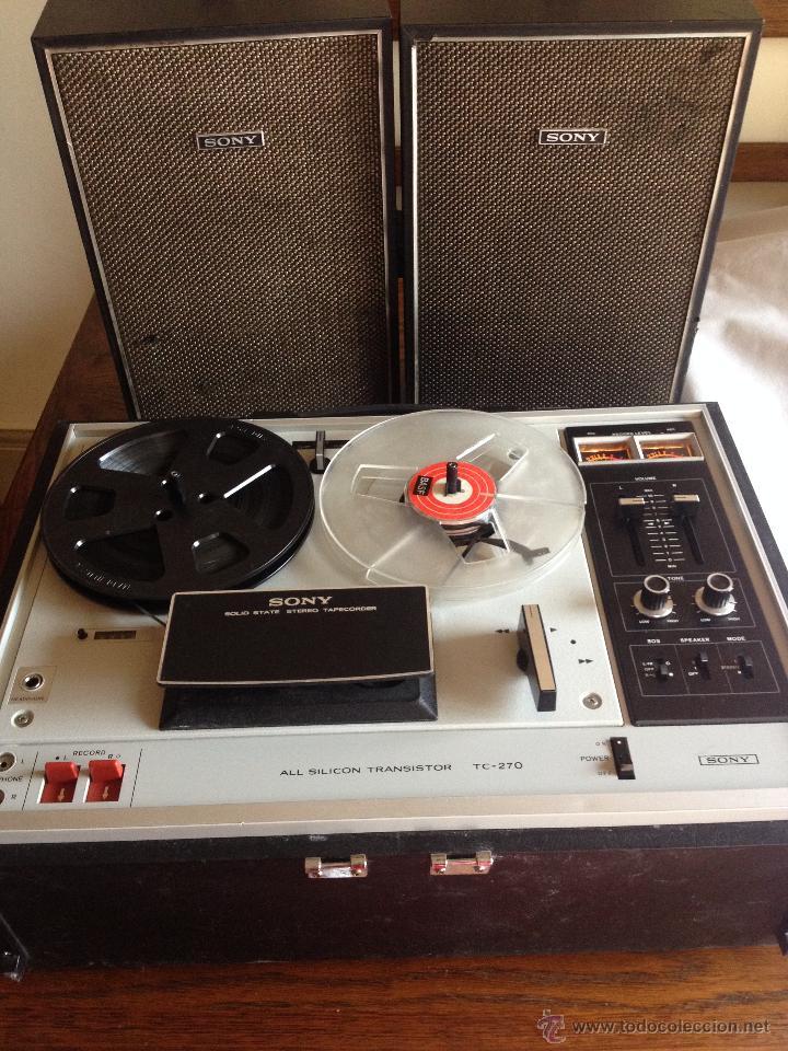 MAGNETOFONO SONY TC-270.AÑO 1973-1974 (Radios, Gramófonos, Grabadoras y Otros - Transistores, Pick-ups y Otros)