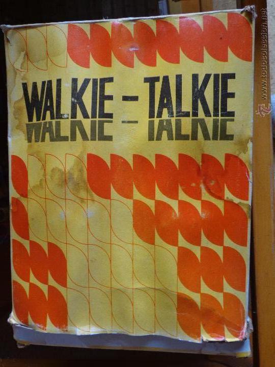 WALKIE TALKIE (Radios, Gramófonos, Grabadoras y Otros - Transistores, Pick-ups y Otros)