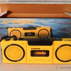 Radios antiguas: RADIOCASSETTE VINTAGE PLAYER ALL WEATHER MODEL EX128. Lote 54814881