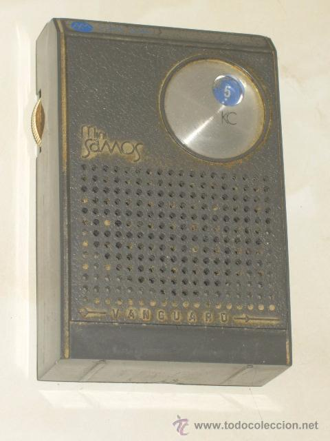 RADIO VANGUARD,MODELO MINI SAMOS,FABRICADO EN ESPAÑA.AÑOS 60. (Radios, Gramófonos, Grabadoras y Otros - Transistores, Pick-ups y Otros)