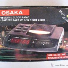 Radios antiguas: RADIO DESPERTADOR AM / FM - DIGITAL CON LUZ - OSAKA.. Lote 54992229