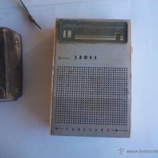 Radios antiguas: RADIO TRANSISTOR VANGUARD MINI SAMOS SOLID STATE. AM 9,5 CM. Lote 55087421