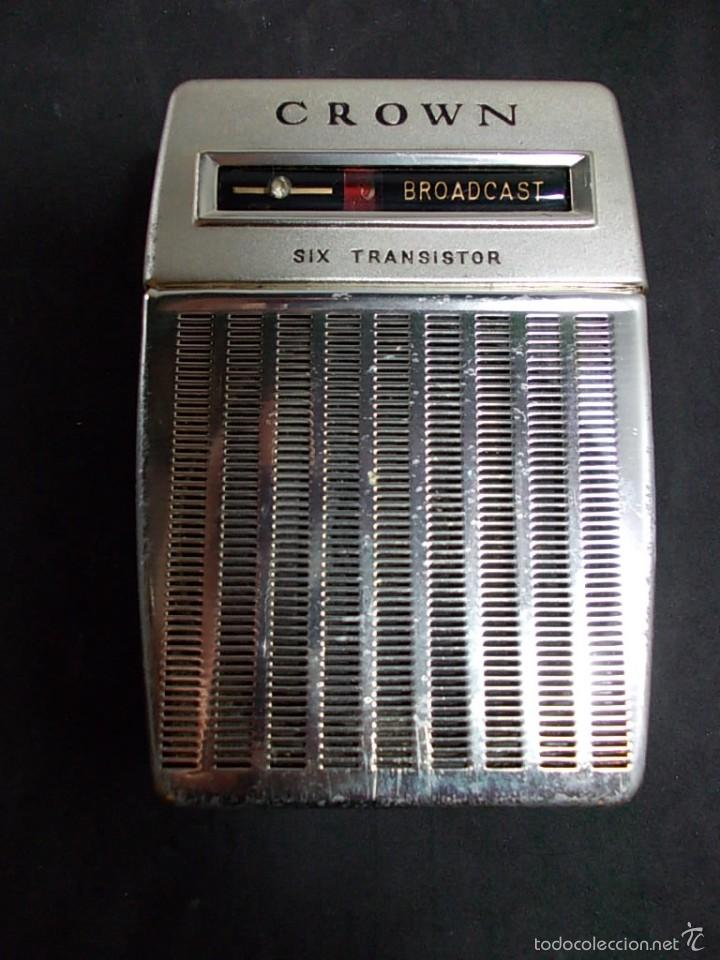 RADIO DE LA MARCA CROWN CON FUNDA ORIGINAL (Radios, Gramófonos, Grabadoras y Otros - Transistores, Pick-ups y Otros)