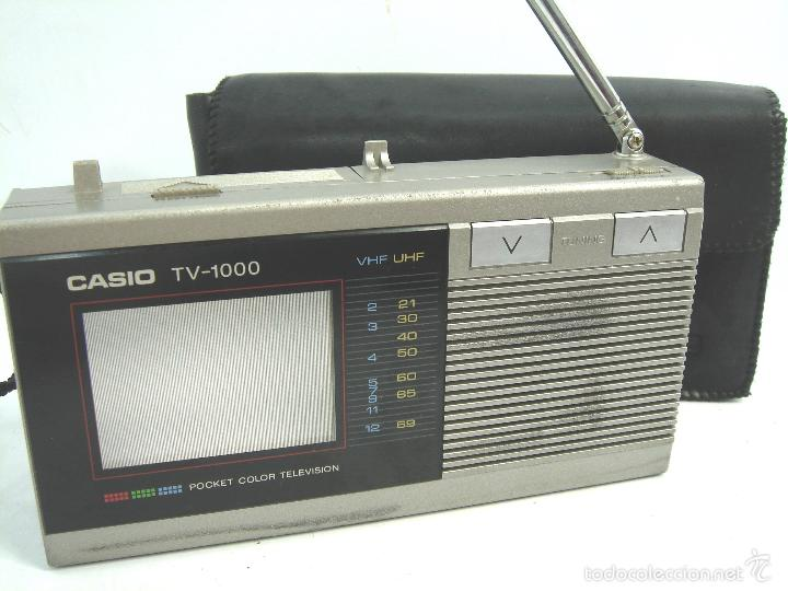Radios antiguas: MINI TELEVISION BOLSILLO COLOR - CASIO TV-1000 ¡¡FUNCIONANDO¡¡¡ TV1000 + FUNDA - Foto 1 - 170616034