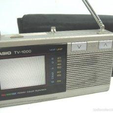 Radios antiguas: MINI TELEVISION BOLSILLO COLOR - CASIO TV-1000 ¡¡FUNCIONANDO¡¡¡ TV1000 + FUNDA. Lote 170616034