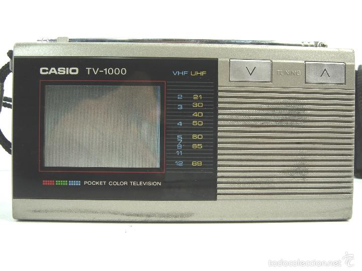 Radios antiguas: MINI TELEVISION BOLSILLO COLOR - CASIO TV-1000 ¡¡FUNCIONANDO¡¡¡ TV1000 + FUNDA - Foto 11 - 170616034