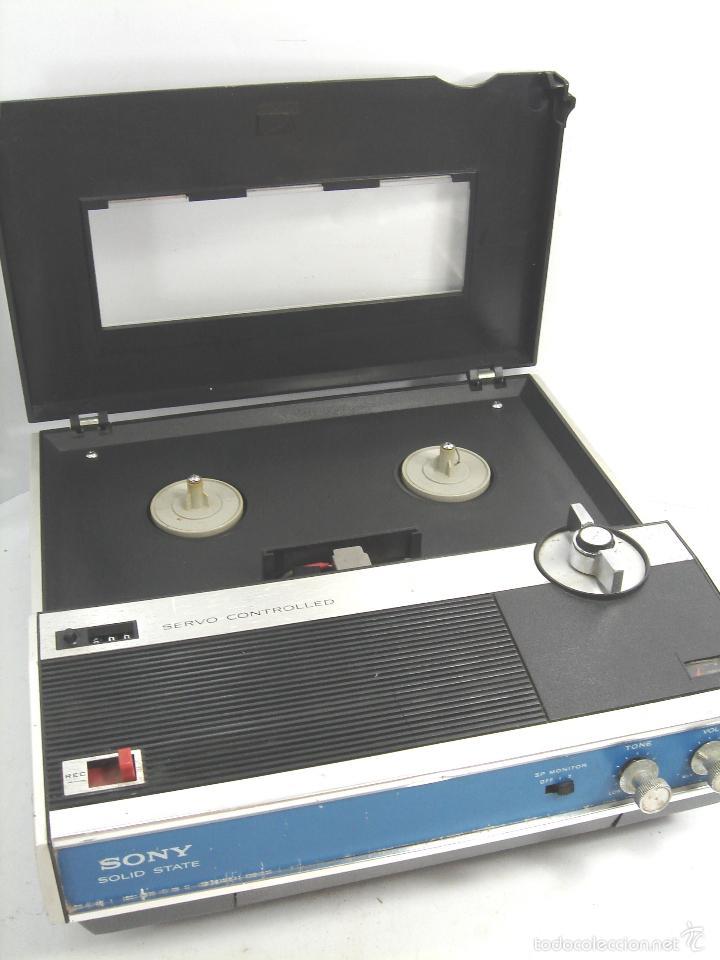 MAGNETOFON DICTAFONO - PORTATIL - SONY SOLID STATE TC-222 - MAGNETOFONO GRABADORA - TC222 (Radios, Gramófonos, Grabadoras y Otros - Transistores, Pick-ups y Otros)
