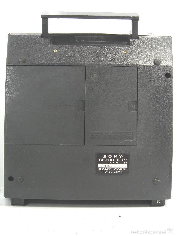 Radios antiguas: MAGNETOFON DICTAFONO - PORTATIL - SONY SOLID STATE TC-222 - MAGNETOFONO GRABADORA - TC222 - Foto 12 - 55685073