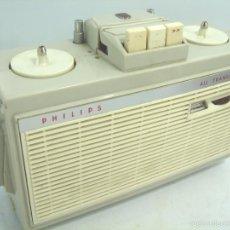 Radios antiguas: RARISIMO MAGNETOFONO DICTAFONO PORTATIL - PHILIPS ALL TRANSISTOR RK5 EL3585 - MAGNETOFON GRABADORA. Lote 55731640