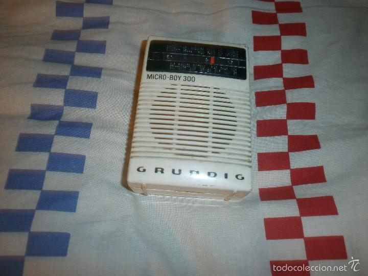 RADIO TRANSISTOR DE BOLSILLO GRUNDIG MICRO BOY 300 FUNCIONANDO (Radios, Gramófonos, Grabadoras y Otros - Transistores, Pick-ups y Otros)