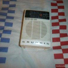 Radios antiguas: RADIO TRANSISTOR DE BOLSILLO GRUNDIG MICRO BOY 300 FUNCIONANDO. Lote 55810711