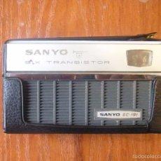 Radios antiguas: RADIO TRANSISTOR SANYO 6C-191 6C191 FUNCIONANDO. Lote 56126497