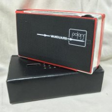 Radios antiguas: RADIO TRANSISTOR VANGUARD POLARIS ROJA CON FUNDA - NUEVA -. Lote 56243878