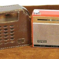 Radios antiguas: RADIO. TRANSISTOR EPEO. MODELO EP-721. 2 BANDAS. FUNDA ORIGINAL. 1965. . Lote 56547783
