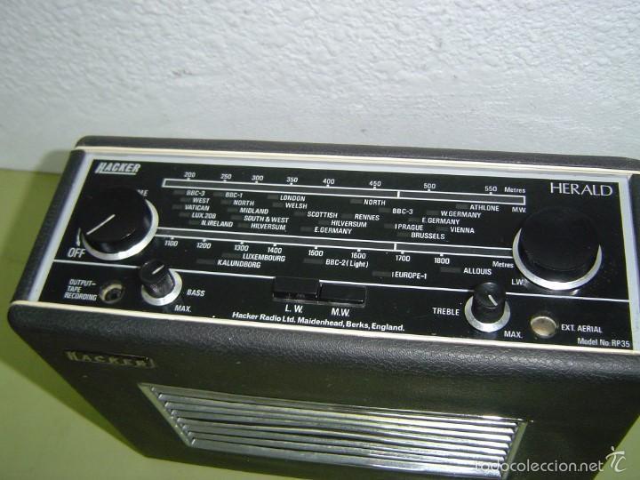 RADIO INGLESA HACKER HERALD MOD. RP35 (Radios, Gramófonos, Grabadoras y Otros - Transistores, Pick-ups y Otros)