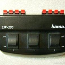 Radios antiguas: REPARTIDOR-SELECTOR DE ALTAVOCES HAMA LSP-203. Lote 57220203