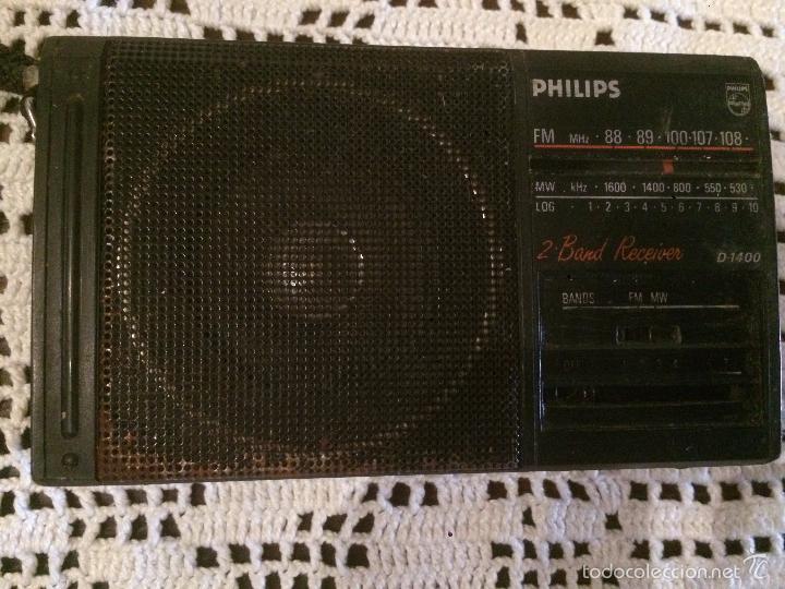 ANTIGUA RADIO TRANSISTOR MARCA PHILIPS DE LOS AÑOS 70 FUNCIONANDO (Radios, Gramófonos, Grabadoras y Otros - Transistores, Pick-ups y Otros)