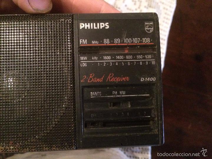 Radios antiguas: Antigua radio transistor marca Philips de los años 70 funcionando - Foto 8 - 57411963