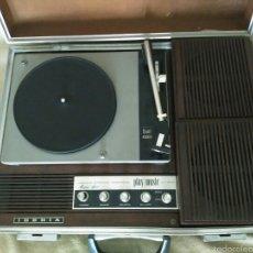 Radios antiguas: MALETA TOCADISCOS IBERIA DP810 STEREO. Lote 57577291
