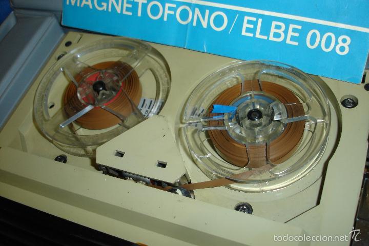 Radios antiguas: MAGNETÓFONO MARCA ELBE. 008 - REDUCIDO TAMAÑO - FUNCIONA - Foto 8 - 57609380