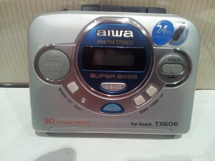 walkman aiwa HS-TX606 muy buen estado ver fotos radio cassette segunda mano