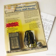 Radios antiguas: RADIO SOLAR AM RADIO CON BLISTER. Lote 57776519