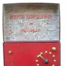 Radios antiguas: RARÍSIMO.RECEPTOR RADIOTELEFONICO DE BOLSILLO.. Lote 58015204