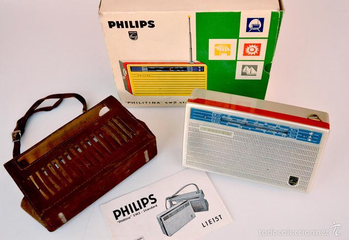 Radios antiguas: TRANSISTOR PHILIPS MODELO PHILITINA SW2 STANDARD - Foto 2 - 58293273