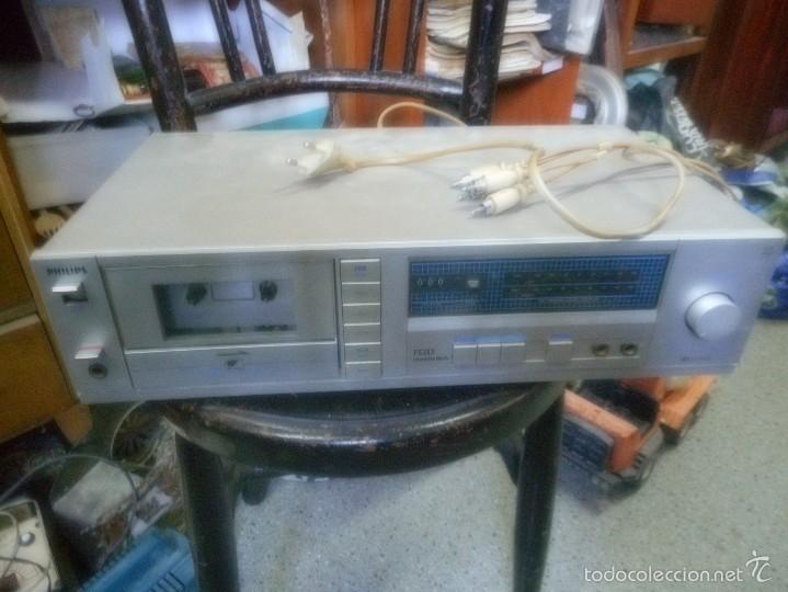 APARATO FHILIPS F6133 CASSETTE DECK (Radios, Gramófonos, Grabadoras y Otros - Transistores, Pick-ups y Otros)