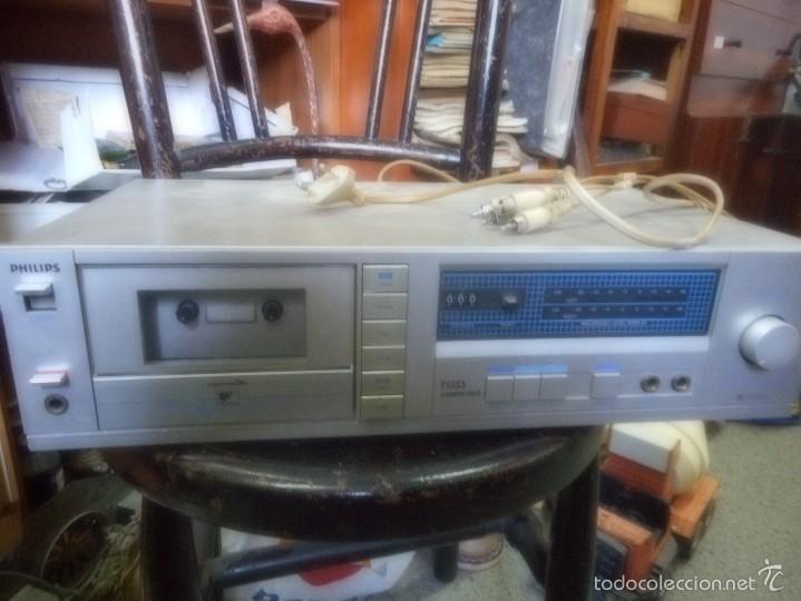 Radios antiguas: aparato fhilips F6133 cassette deck - Foto 3 - 58345042